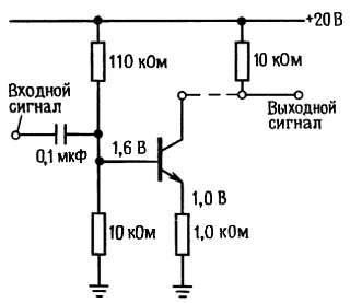 Усилитель с общим эмиттером в качестве каскада с передаточной проводимостью, управляющий нагрузкой