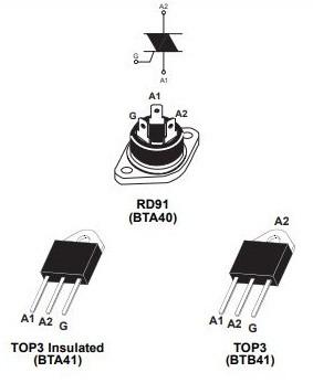 Симистор BTA41