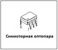 симисторная оптопара. Оптосимистор.