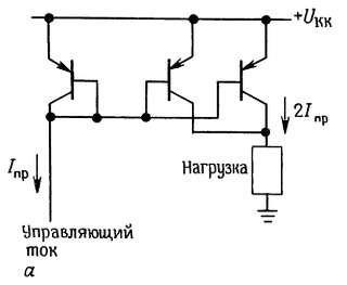 Токовые зеркала, в которых коэффициент отражения тока 1:2.