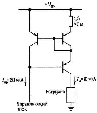 Токовые зеркала. Снижение выходного тока с помощью эмиттерного резистора.