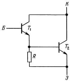 Повышение скорости выключения в составном транзисторе Дарлингтона