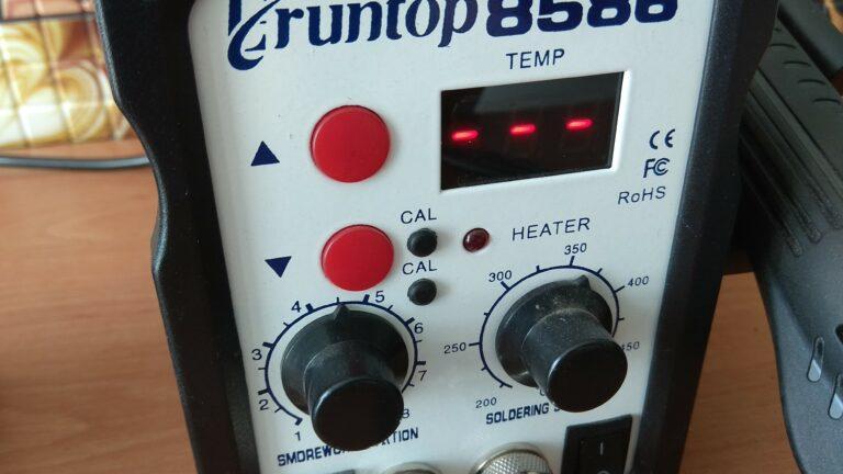 Eruntop 8586 положение регулятора температуры