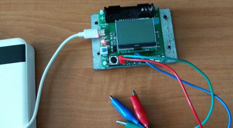 Универсальный тестер ESR meter DIY MG328 зарядка