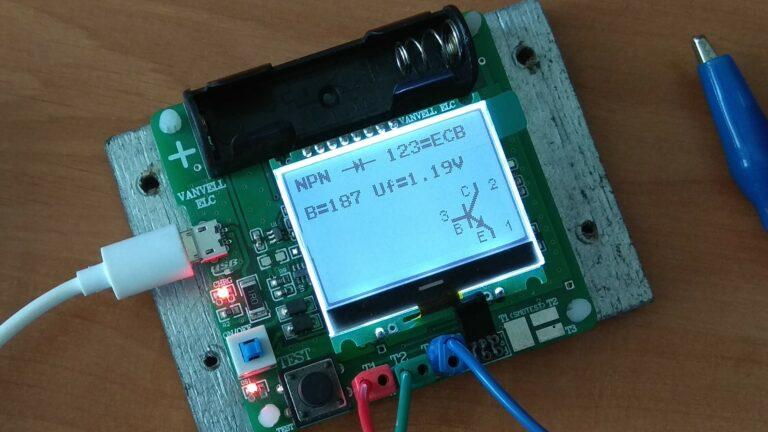 Универсальный тестер ESR meter DIY MG328 транзистор