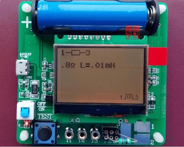 Универсальный тестер ESR meter DIY MG328 индуктивность