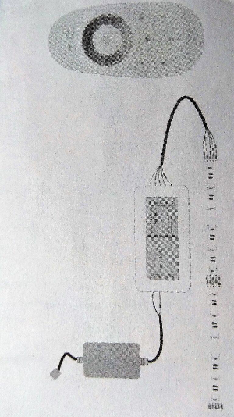Схема подключения контроллера rgbw к ленте