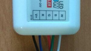 подключение проводов к контроллеру светодиодной ленты