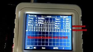 Сигналы ШИМ контроллера на разъеме вентилятора материнской платы