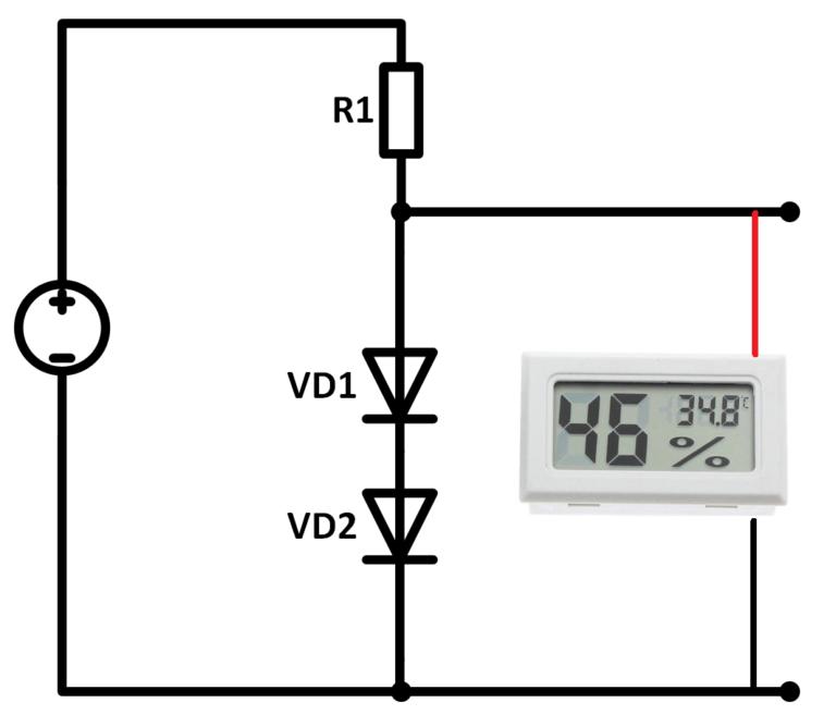 схема подключения датчика температуры и влажности к 5 вольтам