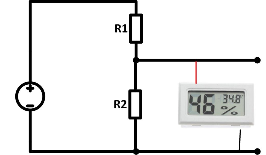 схема подключения датчика температуры и влажности к 5 вольтам работать правильно не будет