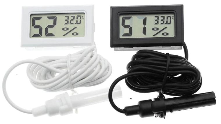 прямоугольные выносные датчики температуры и влажности круглые