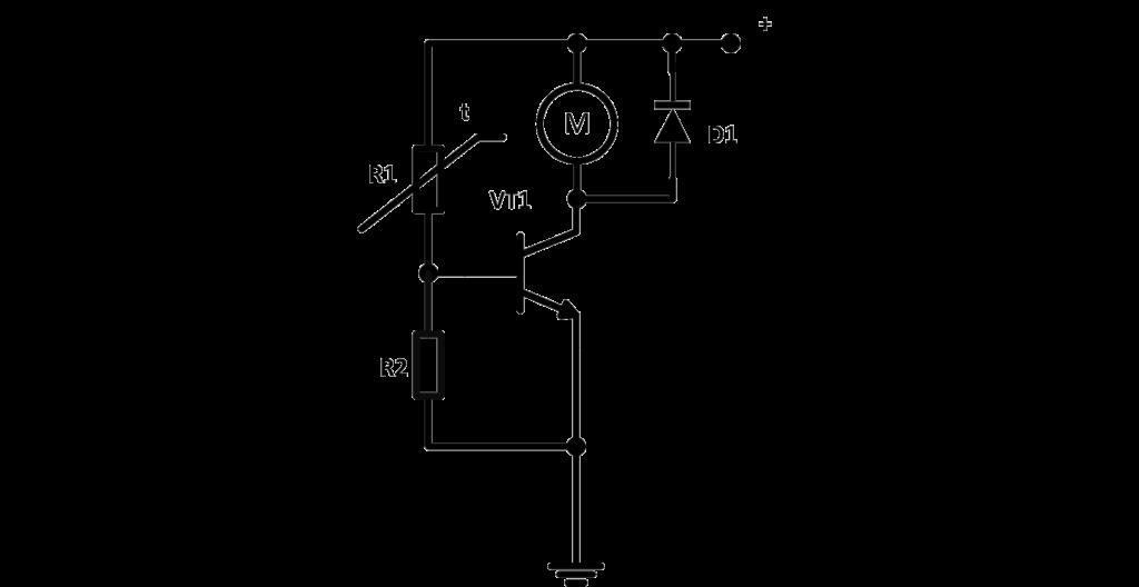 простейшая схема управления вентилятором с помощью термистора