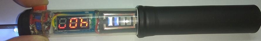 паяльник на аккумуляторе индикация