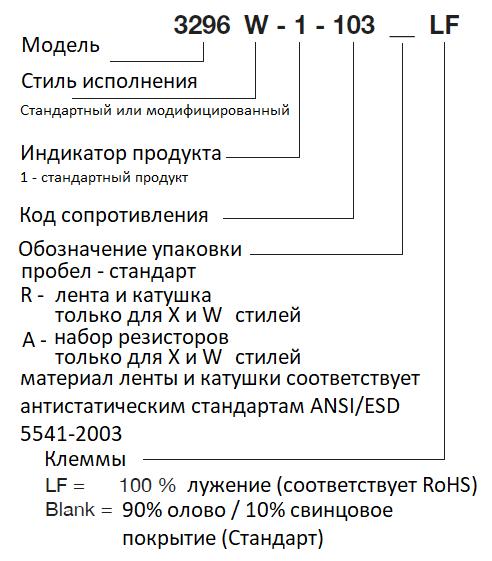 маркировка 3296 на русском языке
