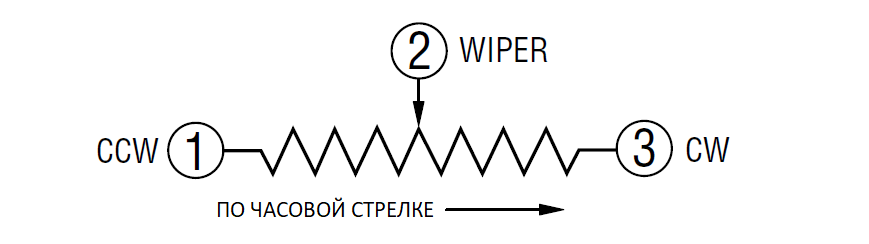 Подстроечный резистор 3296, коды и обозначения