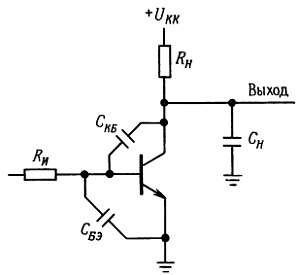 Емкость переходов транзистора