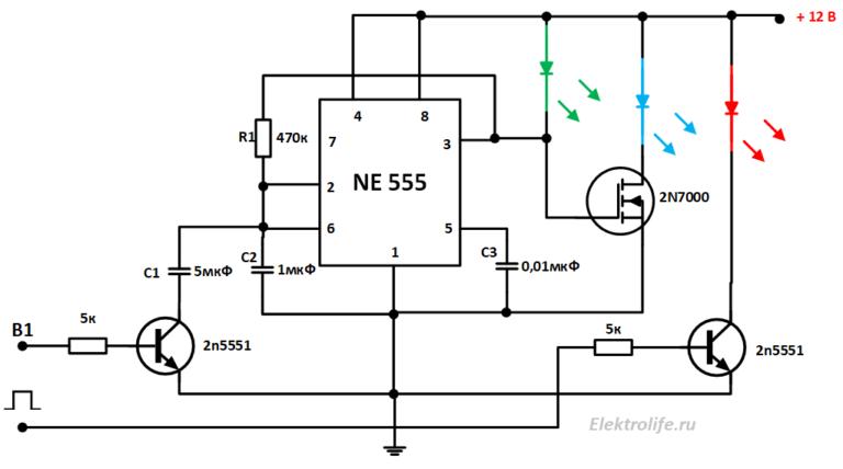 Мультивибратор последний вариант c ключом переключения частоты и индикацией обогрева