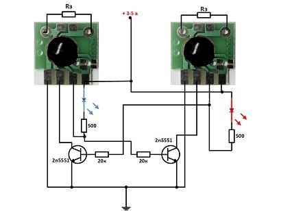 Схема циклического таймера на чипе C005