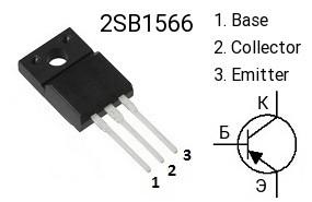 распиновка транзистора b1566