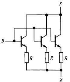Применение «балластных» эмиттерных резисторов при параллельном включении мощных биполярных транзисторов