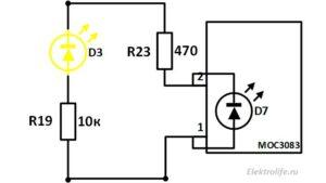 подключение оптосимистора. Контроллер стабилизатора сетевого напряжения