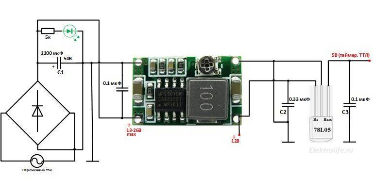блок питания защиты. Сборка контроллера стабилизатора сетевого напряжения на симисторах