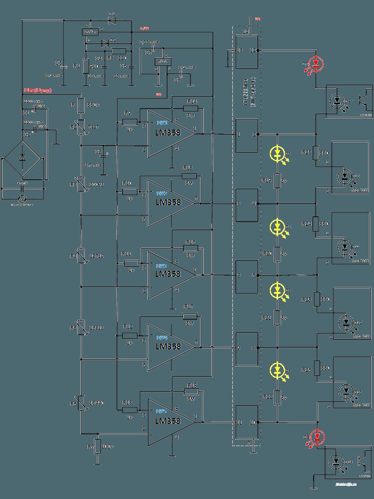 Сборка контроллера стабилизатора сетевого напряжения на симисторах. Схема часть 1