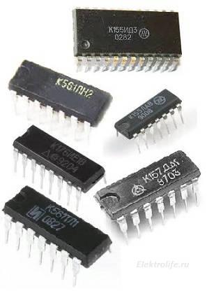 Работа с цифровыми интегральными микросхемами отечественного производства