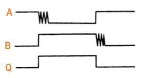 Диаграмма схемы подавления дребезга