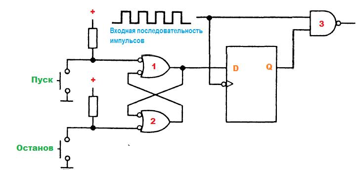 синхронизатор импульсной последовательности схема