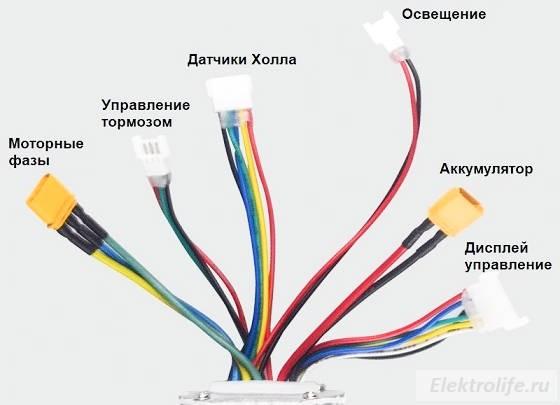 Замена контроллера. Выводы нового контроллера электросамоката