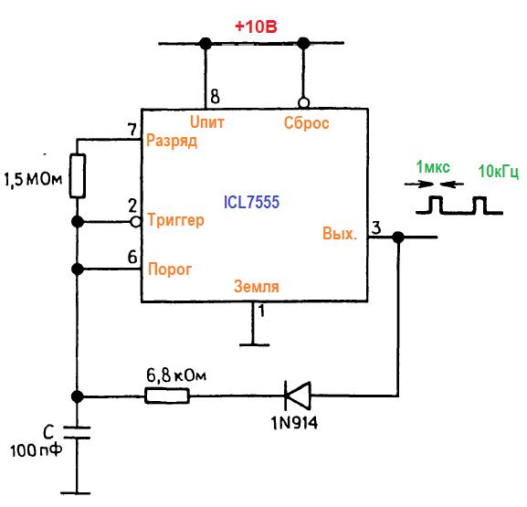 генератор с укороченным рабочим циклом