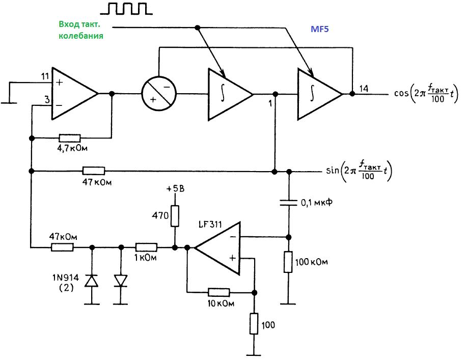 Конструкции генераторов. Квадратурный генератор на переключаемых конденсаторах