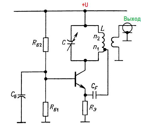 Конструкции генераторов. lc- генератор Хартли