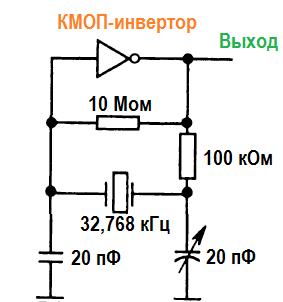 Кварцевый генератор. Вариант 4