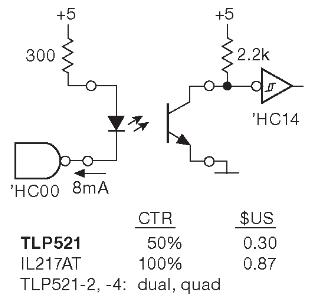 использование 4N35. Элементы оптоэлектроники