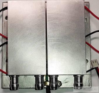 Модуль SP1848. Исследование. Радиаторы водяного охлаждения наклеены на модули
