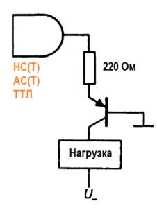 Правила соединения КМОП- и ТТЛ- логических элементов