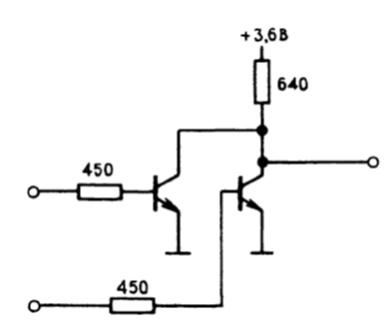резисторно-транзисторная логика. Правила соединения КМОП- и ТТЛ- логических элементов