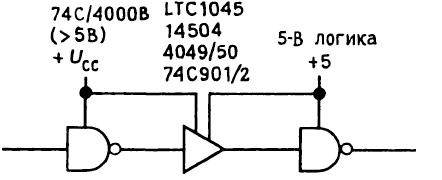 Правила соединения КМОП- и ТТЛ- логических элементов. Соединение логических семейств друг с другом 10