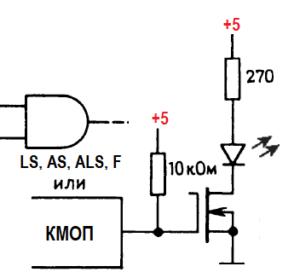 способы управления индикаторами на светодиодах 6