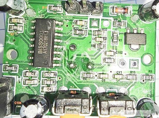 Датчик движения HC-SR501. Размещение элементов схемы на плате