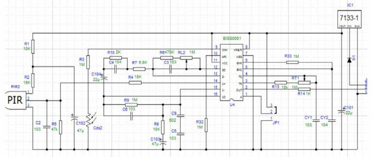 Датчик движения HC-SR501. Технический анализ. Примеры схем