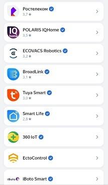 список умных домов. Виртуальная кнопка от Broadlink.