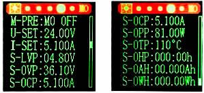 Цифровой преобразователь напряжения XYS3580. Интерфейс настройки текущих параметров