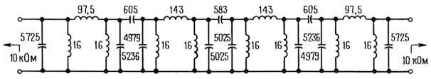 Активные фильтры. пассивный полосовой фильтр с хорошими параметрами, построенный из конденсаторов и катушек индуктивности