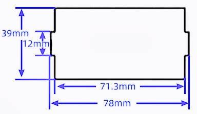 Рекомендуемый размер проема. Цифровой преобразователь напряжения XYS3580
