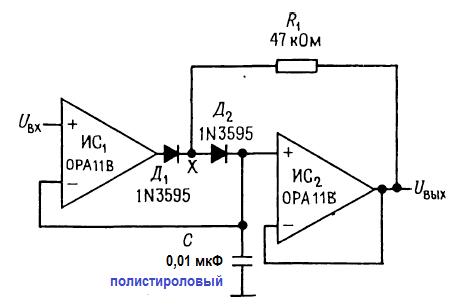 Улучшенная схема пикового детектора