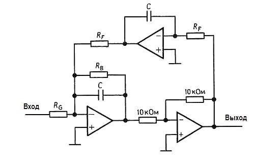 Биквадратный фильтр. Конструкции активных фильтров
